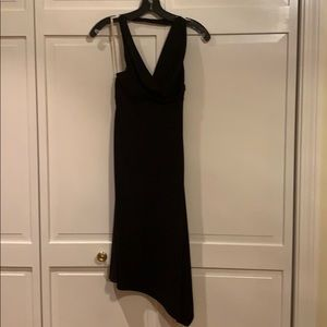 BCBG black halter dress, size small.